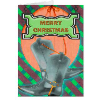 Navidad del vaquero tarjeta de felicitación