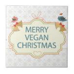Navidad del vegano azulejo cerámica