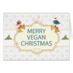 Navidad del vegano felicitaciones