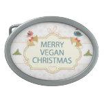 Navidad del vegano hebillas de cinturon