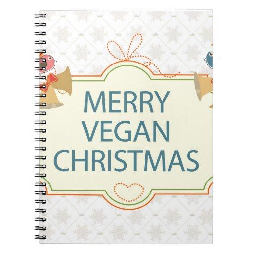 Navidad del vegano libretas