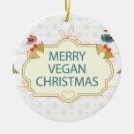 Navidad del vegano ornaments para arbol de navidad