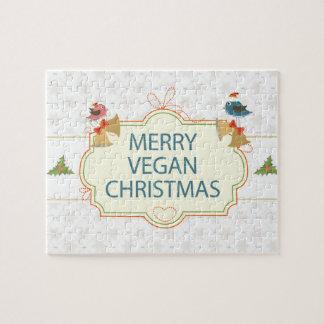 Navidad del vegano puzzle