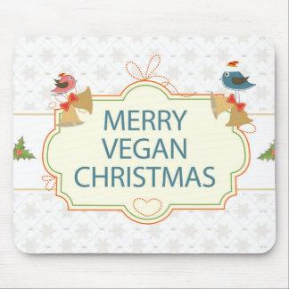 Navidad del vegano tapete de raton