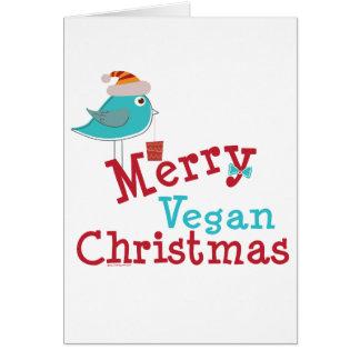 Navidad del vegano tarjeta