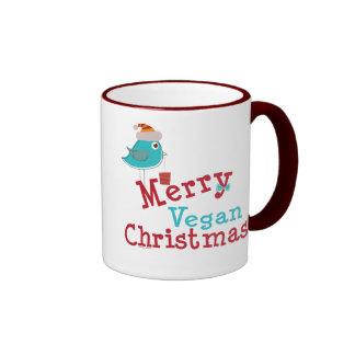 Navidad del vegano taza de café