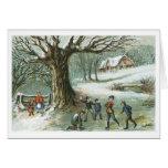 Navidad del Victorian del vintage de la lucha de Tarjeta
