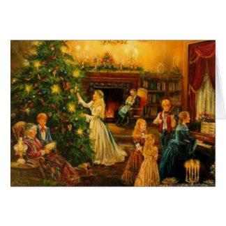 Navidad del Victorian Felicitacion