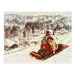 Navidad del Victorian Nevado del vintage por el ma Postales