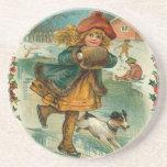 Navidad del Victorian Posavasos Diseño