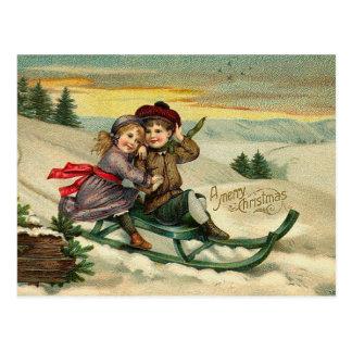 Navidad del Victorian Sledding las postales