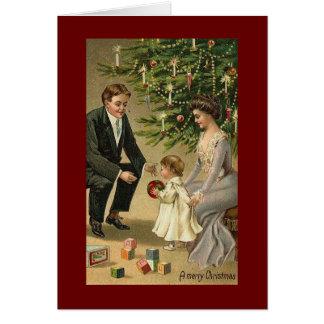 Navidad del Victorian Tarjeta De Felicitación