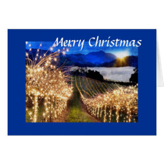 Navidad del viñedo tarjeton