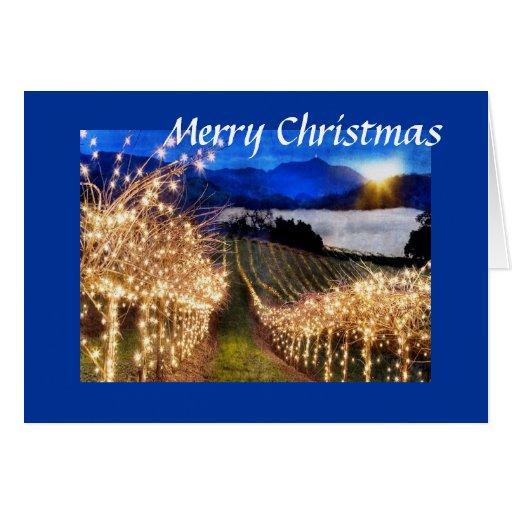 Navidad del viñedo tarjeta de felicitación