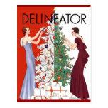 Navidad del vintage 1932 postales