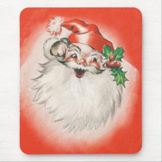 Navidad del vintage, 50s retro alegre Papá Noel Mouse Pads