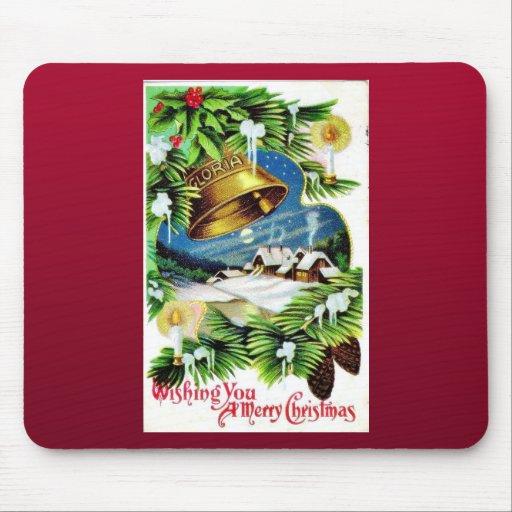 Navidad del vintage alfombrillas de ratón