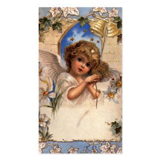 Navidad del vintage, ángel del Victorian con el Tarjetas De Visita