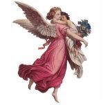 Navidad del vintage, ángel del Victorian que Adorno Fotoescultura