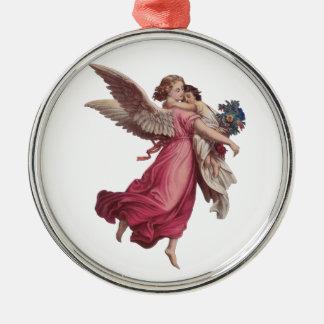 Navidad del vintage, ángel del Victorian que Adorno