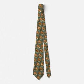 Navidad del vintage, animales el dormir por la corbata personalizada
