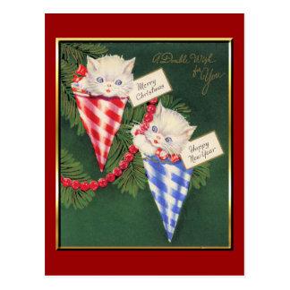 Navidad del vintage Año Nuevo Tarjetas Postales