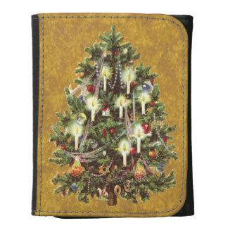 Navidad del vintage, árbol adornado del Victorian