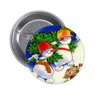 Navidad del vintage, banda del muñeco de nieve pin
