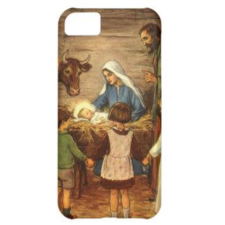 Navidad del vintage, bebé religioso Jesús de la Funda Para iPhone 5C