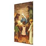 Navidad del vintage, bebé religioso Jesús de la Impresion De Lienzo