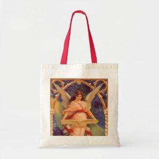 Navidad del vintage, biblia de la lectura del ánge bolsas