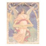 Navidad del vintage, biblia de la lectura del ánge membrete a diseño