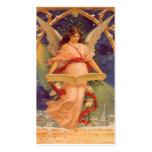 Navidad del vintage, biblia de la lectura del ánge tarjeta de visita