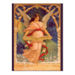 Navidad del vintage, biblia de la lectura del ánge tarjetas postales