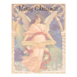 Navidad del vintage, biblia de la lectura del plantillas de membrete