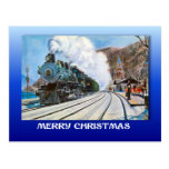 Navidad del vintage, Brienz, ferrocarril por el la Postal