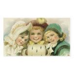 Navidad del vintage, chicas del Victorian, niños Tarjetas De Negocios