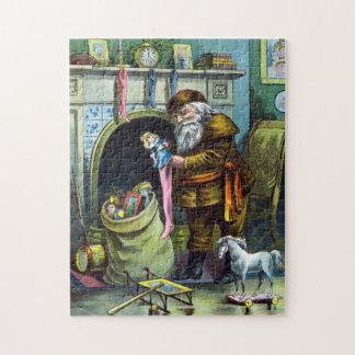 Navidad del vintage chimenea de las medias de Pap Rompecabeza