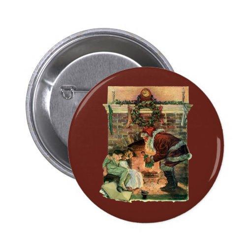 Navidad del vintage, chimenea de Papá Noel del Vic Pin