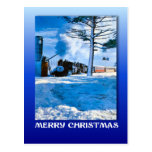 Navidad del vintage, cociendo al vapor a través de tarjetas postales