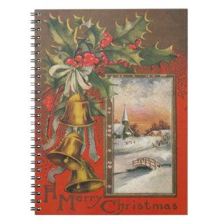 Navidad del vintage con Belces Spiral Notebooks