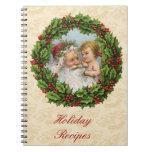 Navidad del vintage cuaderno