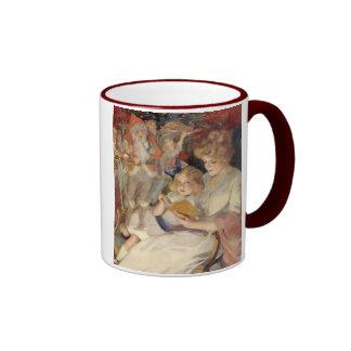 Navidad del vintage, cuento de la lectura de la taza de dos colores