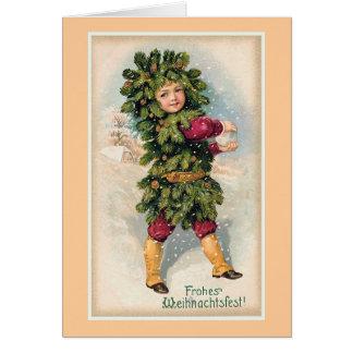 Navidad del vintage de Frohes Weihnachtsfest Tarjeta