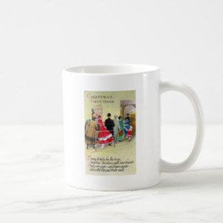 Navidad del vintage de la cola de la ventana de bo tazas