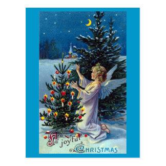 """Navidad del vintage de """"Navidad alegre"""" Postal"""
