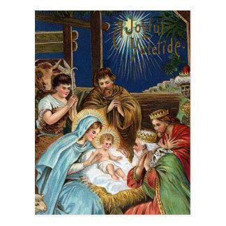 """Navidad del vintage de """"Yuletide alegre"""" Tarjetas Postales"""