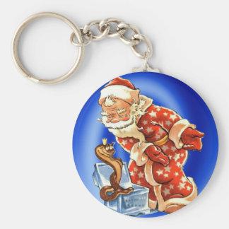 Navidad del vintage el amigo mágico de Santa Llavero Personalizado