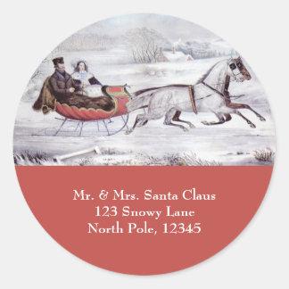 Navidad del vintage el invierno del camino