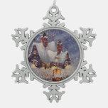 Navidad del vintage, el taller de Santa en Polo Adornos